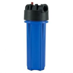 10 inch Double O-ring Water Filter Housing, Black cap / Blue housing
