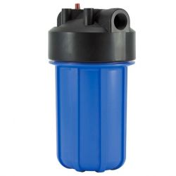 10 inch Double O-ring Big Blue Water Filter Housing, Black cap / Blue housing