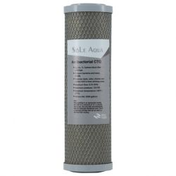 CTO Antibacterial 10 inch Nanometer Silver Carbon Block Filter Cartridge
