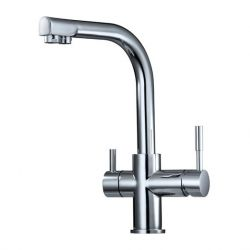 Kitchen & Drinking 2 in 1 Faucet, Chrome Plated