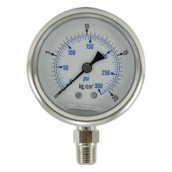 oil filled pressure gauge, oil filled pressure gauges supplier, oil filled water pressure gauge